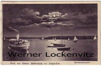 Ansichtskarte Berlin-Grünau Gruß aus Colonie Wendenschloß am Langen See