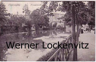 Ansichtskarte Eberswalde Promenade