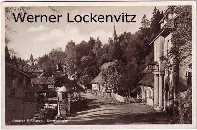 Alte Ansichtskarte Schierke am Brocken Unterschierke Ortsstraße