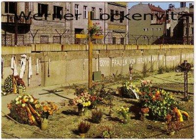 Ansichtskarte Berlin Mahnmal Peter Fechter am Checkpoint Charlie Mauer Grenze