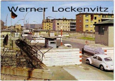 Ansichtskarte Berlin Heinrich-Heine-Straße mit Grenzanlagen