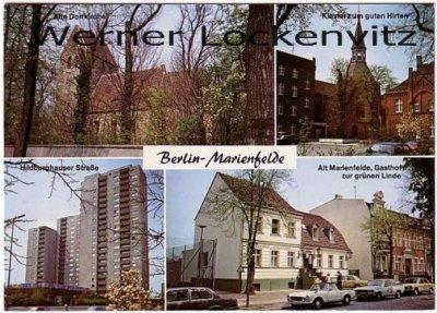 Ansichtskarte Berlin-Marienfelde Hildburghauser Straße Gasthof zur grünen Linde Kloster