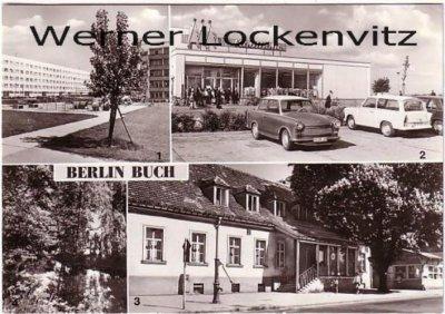 Ansichtskarte Berlin-Buch Neubauten an der Karower Chaussee Kaufpark