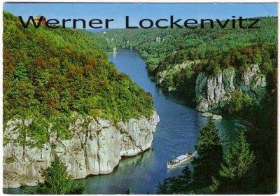 Ansichtskarte Kelheim-Weltenburg Donaudurchbruch mit Dampfer