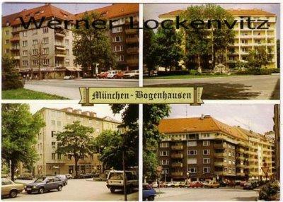 Ansichtskarte München-Bogenhausen mehrfach Wohnhäuser
