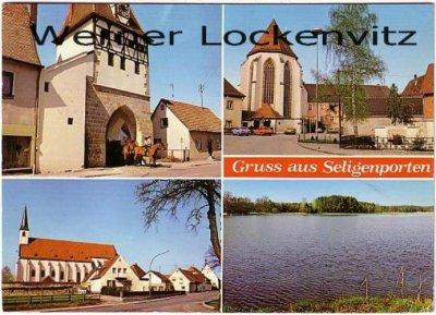 Ansichtskarte Pyrbaum-Seligenporten mehrfach Stadttor Kirche Siedlung