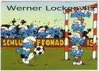 Ansichtskarte Comic Humor Fussball Die Schlümpfe beim Fußballspielen