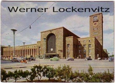 Ansichtskarte Stuttgart Hauptbahnhof mit Motorroller