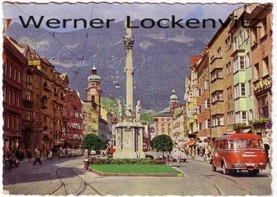 Ansichtskarte Österreich Innsbruck Maria-Theresien-Straße mit Bus