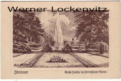 Ansichtskarte Hannover Große Fontäne im Herrenhäuser Garten