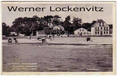Ansichtskarte Neustadt-Pelzerhaken Strandhotel Eichenhain Bes. Walter Schnoor