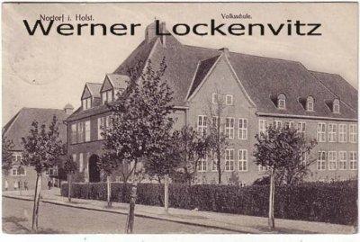 Ansichtskarte Nortorf in Holstein Volksschule