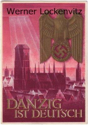 Ansichtskarte Propaganda Danzig ist Deutsch Ganzsache Kriegs WHW