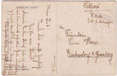 Marineschiffspost MSP Nr. 34 SMS München