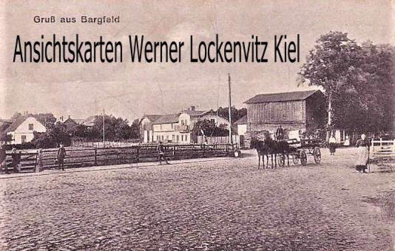 Ansichtskarte Bargfeld-Stegen Ortsansicht mit Pferdefuhrwerk