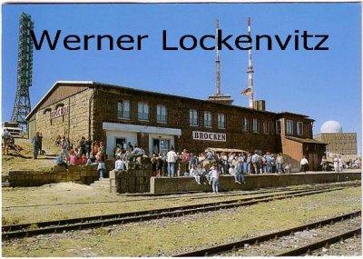 Ansichtskarte Brocken Brockenbahnhof mit Funkmasten