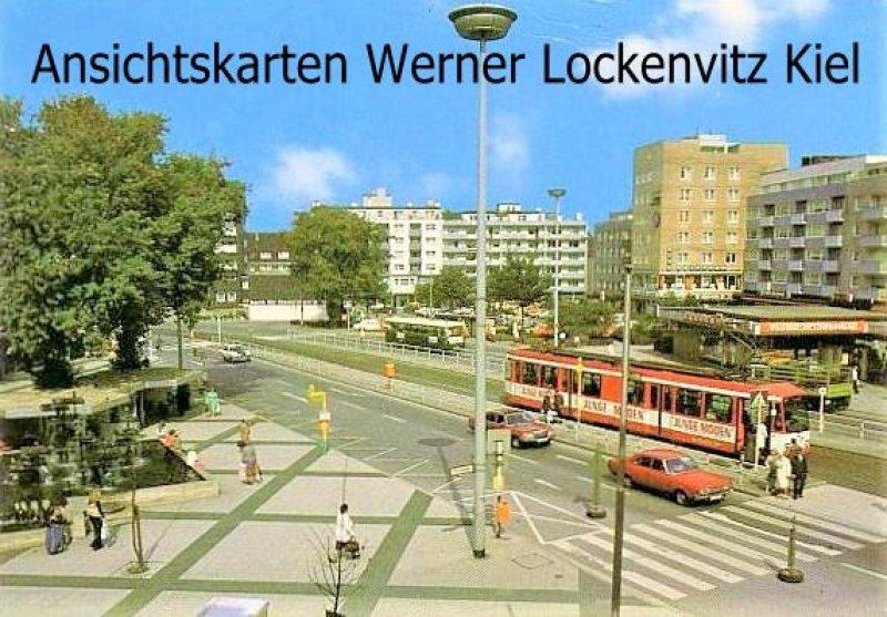 Ansichtskarte Bochum 6 Wattenscheid August-Bebel-Platz mit Straßenbahn