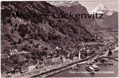 Ansichtskarte Schweiz Flüelen Ortsansicht Panorama Uri