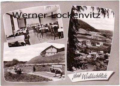 Ansichtskarte Neuhausen ob Eck-Oberschwandorf Hotel-Restaurant Cafe Waldachblick Bes. Familie Schnupp