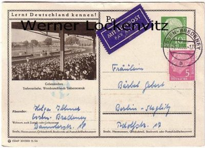 Gelsenkirchen Trabrennbahn Ganzsache