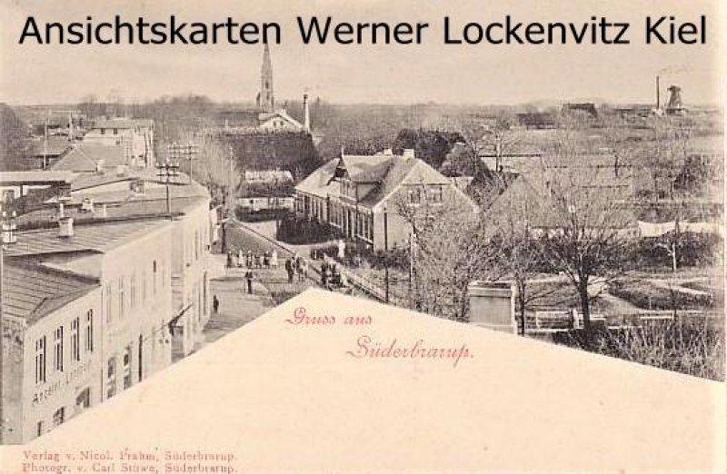 Ansichtskarte Süderbrarup Ortsansicht Panorama Straße