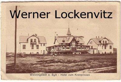 Ansichtskarte Wenningstedt auf Sylt Hotel zum Kronprinzen