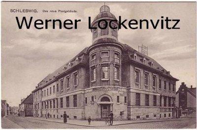 Ansichtskarte Schleswig Das neue Postgebäude