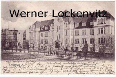 Ansichtskarte Schleswig Lehrerinnenheim Schule
