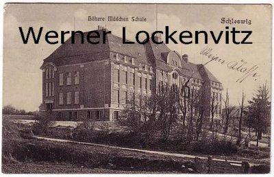 Ansichtskarte Schleswig Höhere Mädchen Schule