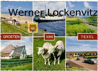 Ansichtskarte Niederlande Texel Fähre Strand Ortsansicht