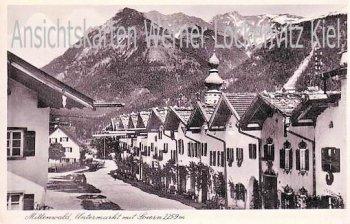 Ansichtskarte Mittenwald Untermarkt