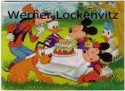 Ansichtskarte Comic Disney Goofy Micky Donald Pluto Minni und Daisy