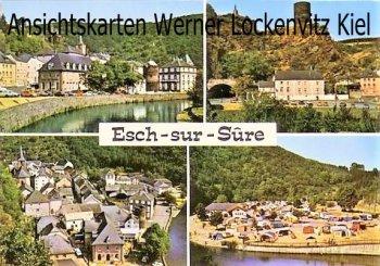 Ansichtskarte Luxemburg Luxembourg Esch-sur-Sure mehrfach Panoramen