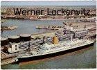 Ansichtskarte Bremerhaven Columbus-Bahnhof mit MS Bremen