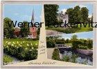 Ansichtskarte Hamburg-Rahlstedt Im Liliencronpark Kirche Brücke Gedenkstein