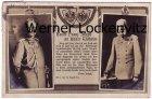 Ansichtskarte Kaiser Franz Joseph schreibt an Kaiser Wilhelm