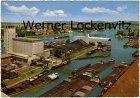 Ansichtskarte Schweiz Basel Rheinhafen mit Binnenschiffen