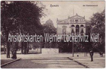 Ansichtskarte Hameln Am Kastanienwall