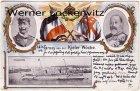 Ansichtskarte Kiel Kieler Woche Kriegshafen mit Hohenzollern Wilhelm II und Eduard VII