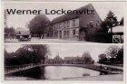Ansichtskarte Kiel-Friedrichsort Pries Gotsch's Gasthof Omnibus-Haltestelle Partie am Dorfteich