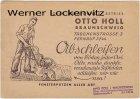 Braunschweig Firma Otto Holl Glas-Reinigungs-Betrieb Geschäftspostkarte