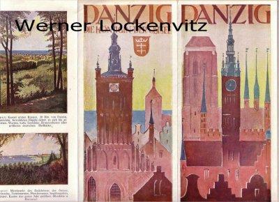 Danzig Gdańsk kleines Faltblatt Prospekt der Danziger Verkehrszentrale