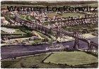 Ansichtskarte Rendsburg Blick auf die Hochbrücke mit Siedlungshäusern