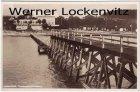 Ansichtskarte Timmendorfer Strand Landungsbrücke mit Blick auf die Strand-Halle