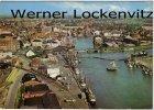 Ansichtskarte Husum Blick auf die Stadt mit Hafen Luftbild