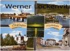 Ansichtskarte Bad Säckingen Teilansicht Schloß Münsterplatz Rheinbrücke