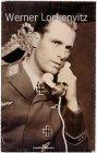 Ansichtskarte Joachim Hansen in Uniform mit Ritterkreuz mit Eichenlaub Schauspieler