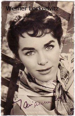Ansichtskarte Autogrammkarte Schauspielerin Marianne Koch mit Originalautogramm