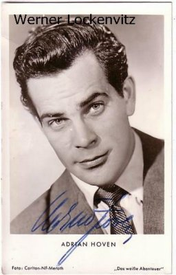 Ansichtskarte Autogrammkarte Adrian Hoven Schauspieler mit Originalautogramm