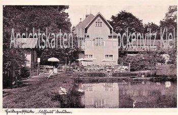 Ansichtskarte Dresden Heidegaststätte Fischhaus Inhaber Georg Schulze